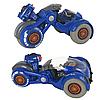 Мотоцикл на радиоуправлении Virus Hunter с дезинфектором машинка на пульте управления детский, синий
