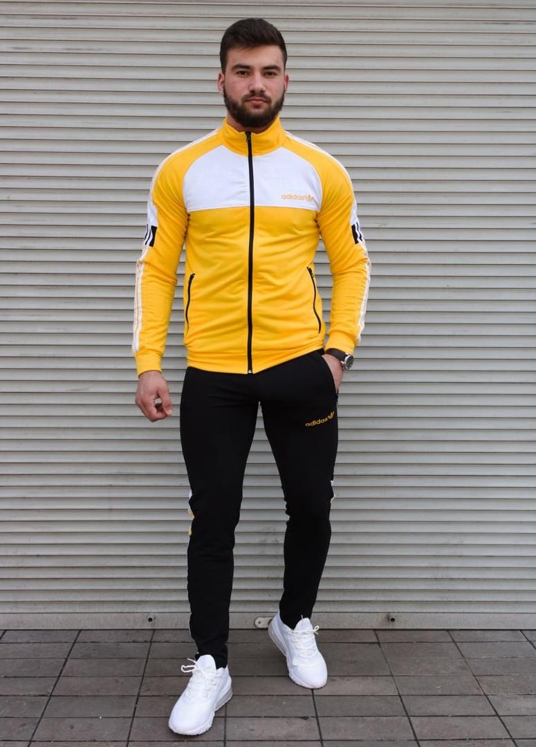 Мужской спортивный костюм черно-желтый Сл 2009