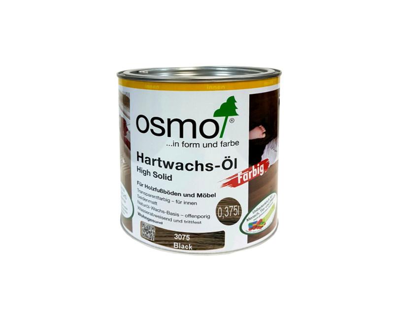 Масло с твердым воском OSMO HARDWACHS-OL FARBIG для пола и изделий из древесины 3075 - черное 0,375л