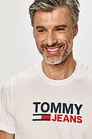 Чоловіча футболка Tommy Jeans, біла томмі джинс, фото 1