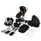 Универсальная коляска 3 в 1 Lionelo RIYA BLACK ONYX, фото 3