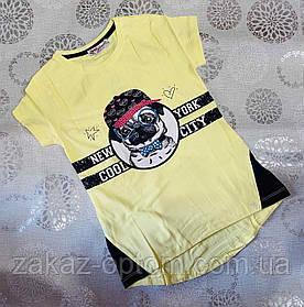 Футболка подростковая на девочку оптом (128-176 см) Турция-72837