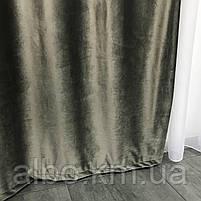 Готові оксамитові штори для залу спальні вітальні, штори і тюль в кімнату квартиру готель, штори з оксамиту в вітальню зал хол, фото 3