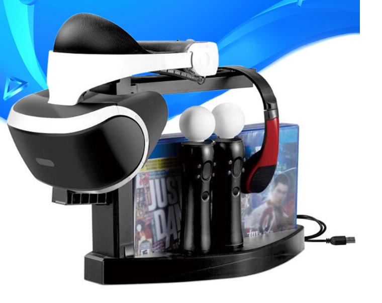 Док-станція тримач дисків KJH для PS VR / Dualshock 4 / PS Move