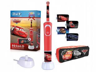 Електрична зубна щітка дитячаBraun Oral-B Stages Power D100 Cars/Тачки + чехол