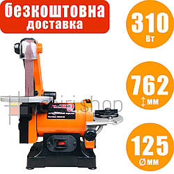 Тарельчато ленточный шлифовальный станок WorkMan MM493B, точильный станок ленточный, гриндерный станок