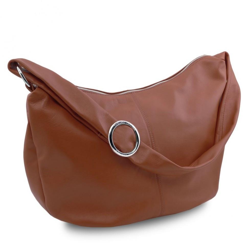 Женская кожаная сумка Tuscany Leather Yvette TL140900 (Brown - коричневый)