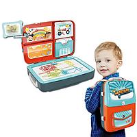 Детский набор для рисования 3в1 Backpack Packing, Синий, фото 1