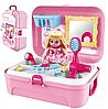 Игровой набор для макияжа на 16 предметов в портативном рюкзаке Cosmetics toy