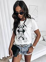 Жіноча стильна футболка з малюнком мультяшним, фото 1