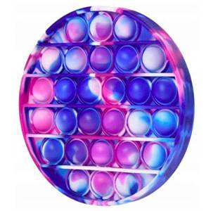 Іграшка антистрес з кульками всередині Pop it для дітей (фіолетово-синій коло)