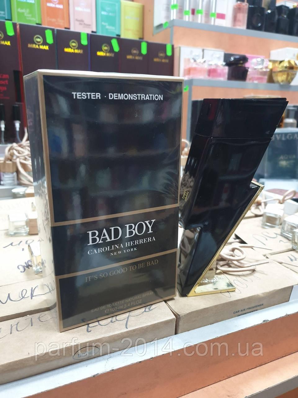 Мужской парфюм каролина эррера бед бой Carolina Herrera Bad Boy 100 ml (лиц) духи аромат запах