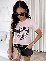 Женская стильная футболка с мультяшным рисунком, фото 1