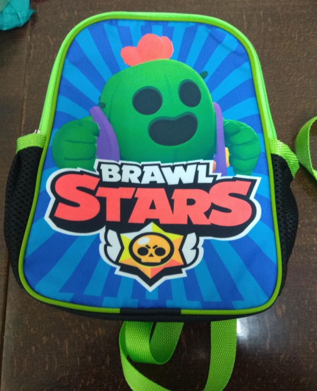 Дитячий рюкзак дошкільний з яскравим принтом Бравл Старс