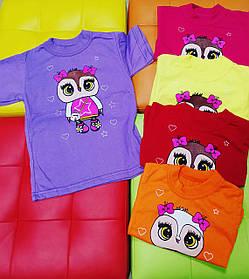 Яскрава футболка для дівчинки з совою