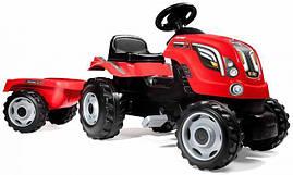 Трактор детский педальный с прицепом FARMER XL Smoby красный 710108
