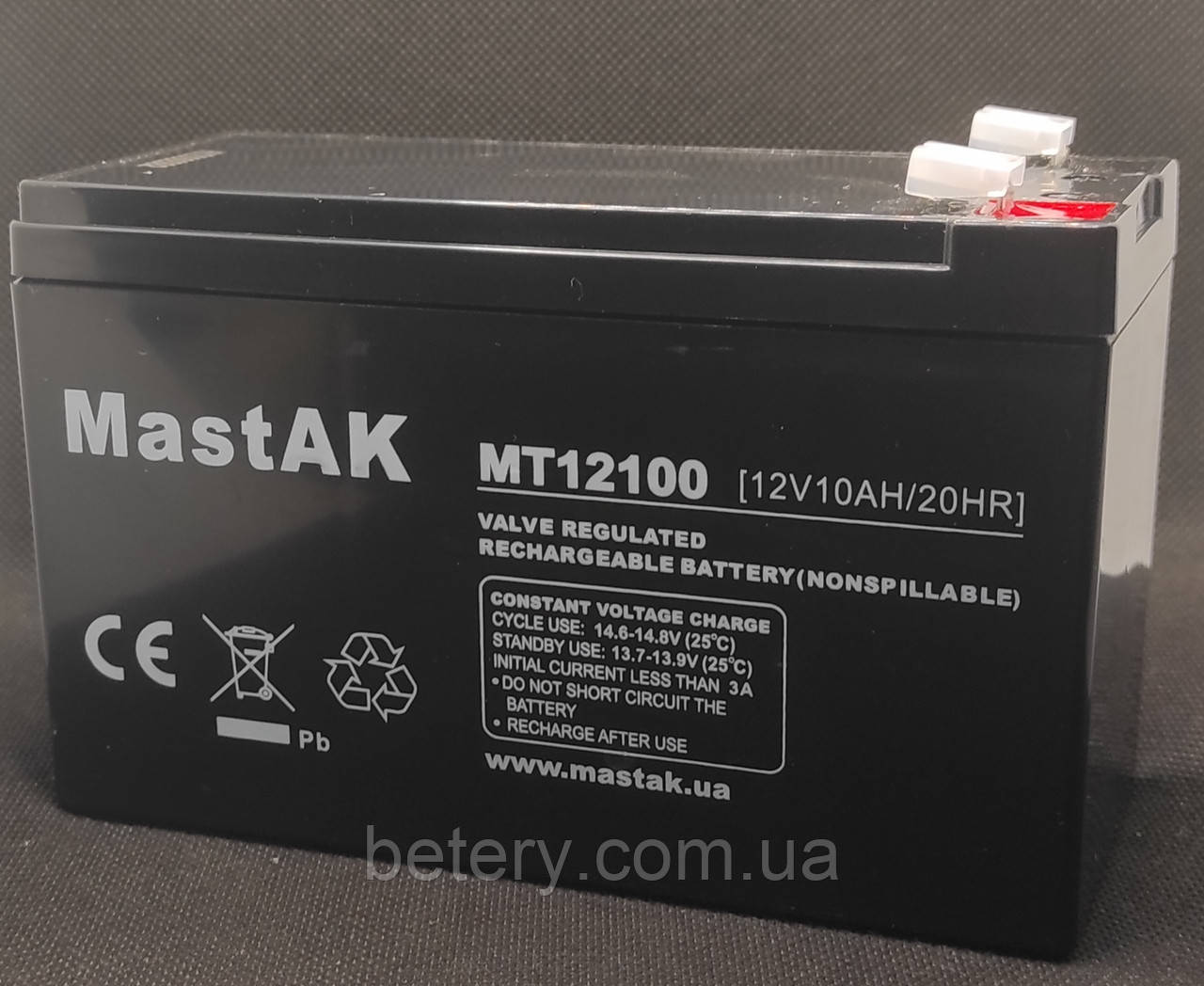 Акумулятор MastAK MT12100 ( 12v 10Ah )