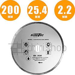 Алмазный диск для плитки 200 мм Eurotec MPA10268 сплошной круг для плитки алмазный диск для болгарки по плитке