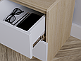 Приліжкова тумба Дуб Сонома/Білий, фото 3