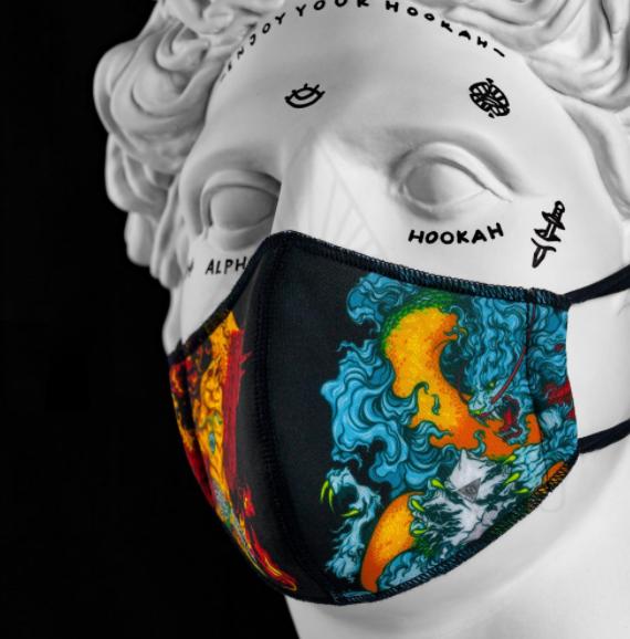 Багаторазова захисна маска для обличчя від Alpha hookah (Альфа Хука)