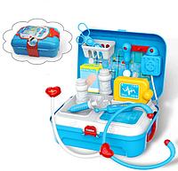 Портативний дитячий рюкзак Doctor toy. Набір медичних інструментів з 17 предметів