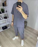 Чоловічий спортивний костюм з коротким рукавом з двунити в кольорах, фото 5