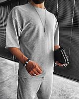 Чоловічий спортивний костюм з коротким рукавом з двунити в кольорах, фото 7
