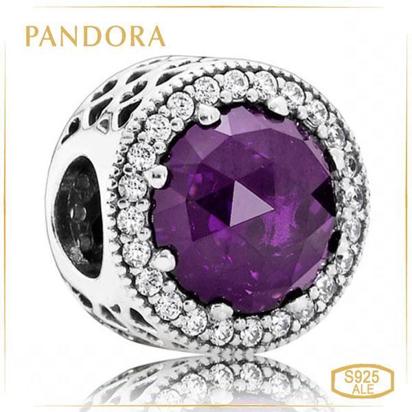 Пандора Шарм Лілові сяючі серця Pandora 791725NRP