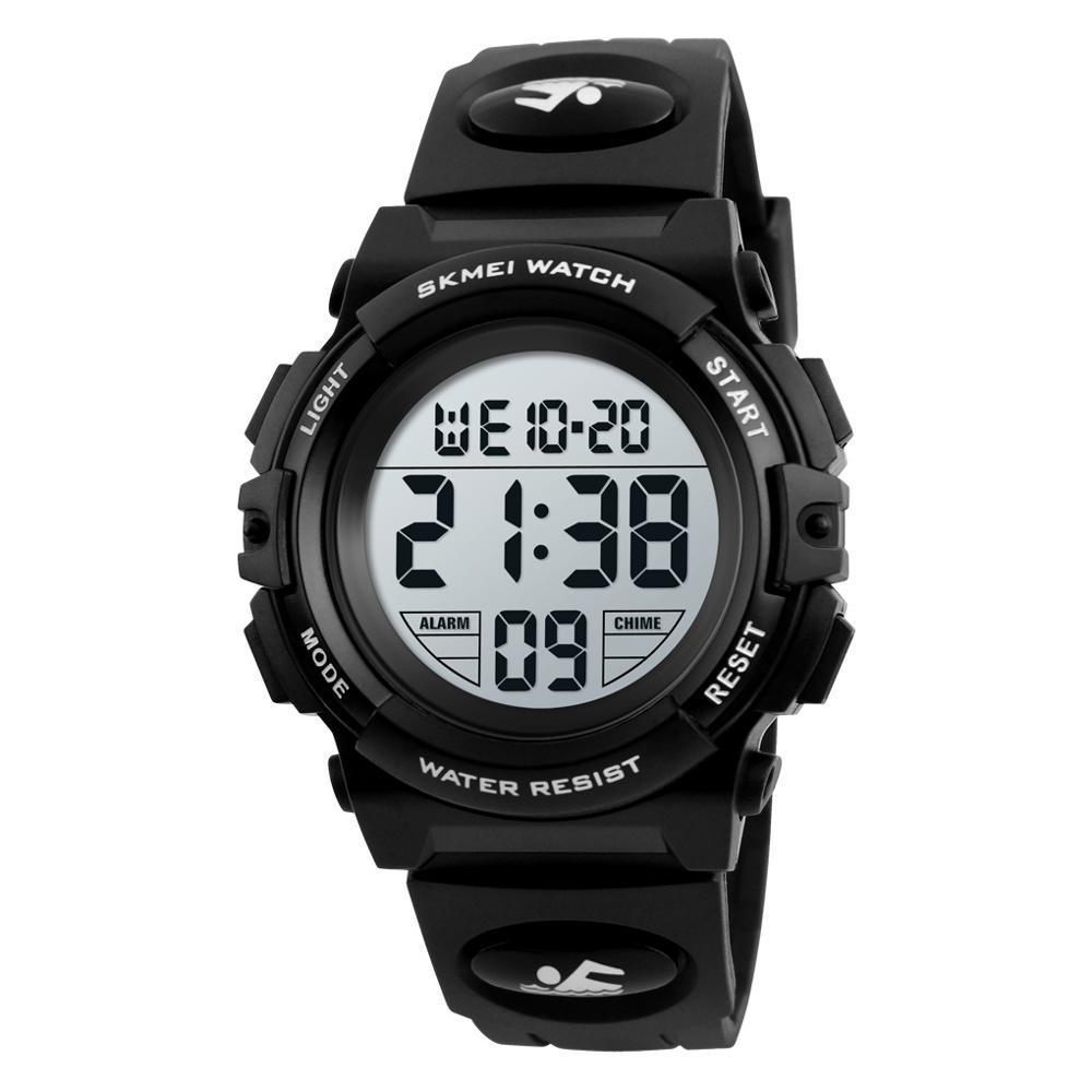 SKMEI 1266 черные детские спортивные часы
