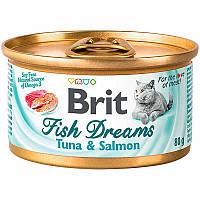 Brit (Брит) Fish Dreams Tuna & Salmon - Консервы с тунцом и лососем для кошек (85 гр.)