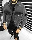 Чоловіча Джинсова Куртка Чорна, фото 2