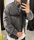 Чоловіча Джинсова Куртка Чорна, фото 5