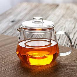 Стеклянный боросиликатный чайник гундаобэй с фильтром 500 мл