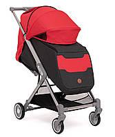 Лёгкая прогулочная коляска с большим капюшоном BabyZz Prime красная