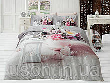 Комплект постельного белья сатин 3d First Choice полуторный размер Andrea