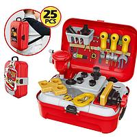 Игровой детский набор инструментов на 25 предметов в портативном рюкзаке Toy Tool Toy