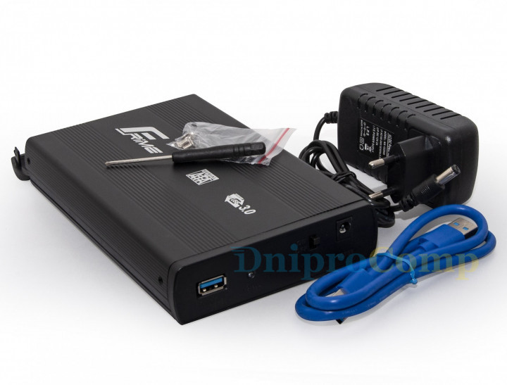 "Внешний карман Frime SATA HDD 3.5"", USB 3.0, Metal, Black (FHE50.35U30)"
