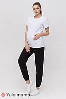 Чорні спортивні штани для вагітних DIDO TR-21.051 Юла мама