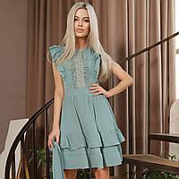 Очаровательное нарядное платье с воланами, фото 1