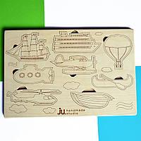 """Рамка вкладыш """"Над Водой"""", деревянный пазл сортер для детей. Карточки вкладыши из дерева для раскраски."""