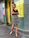Черная женская легкая юбка с цветочным принтом, фото 6