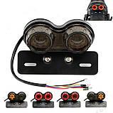 Универсальный задний led фонарь прозрачный (3 в 1) : Стоп сигнал, повторители поворотников, подсветка номера, фото 5