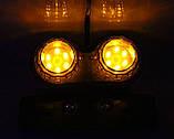 Универсальный задний led фонарь прозрачный (3 в 1) : Стоп сигнал, повторители поворотников, подсветка номера, фото 4