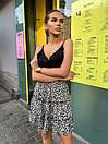 Женская легкая юбка с цветочным принтом черная, фото 7