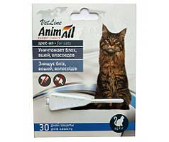 Капли AnimAll (капли от блох, клещей) для котов от 4кг (1 пипетка)