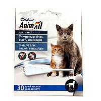Капли AnimAll (капли от блох, клещей) для котов до 4кг (1 пипетка)