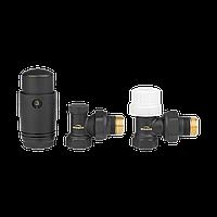 Комплект радіаторний кутовий (дизайнерський, чорний) Invena, фото 1