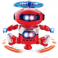 Танцюючий світиться робот Dancing Robot 360 STURN SPIN червоний