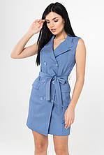 Приталенное джинсовое платье размер S,M,L,XL,2XL (дев )