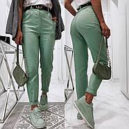 Ультрамодні жіночі джинси із завищеною талією, 00755 (Бірюзовий), Розмір 42 (S), фото 2